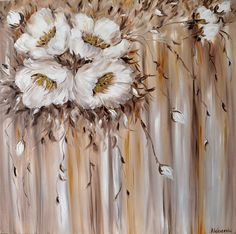 Melody of flowers. Original oil painting on canvas Oil