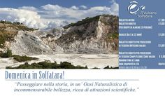 Domenica in Solfatara; l' occasione per scoprire le meraviglie scientifiche del millenario Vulcano dei Campi Flegrei: http://www.vulcanosolfatara.it/it/news-eventi/ultime-notizie-solfatara-pozzuoli/184-domenica-in-solfatara