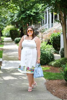 Colorful Cityscape dress. fun Karen Walker sunglasses + my favorite summer GiGi New York bag – Stylish Sassy & Classy
