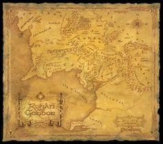 Poster Lord of the rings Le seigneur des anneaux Carte Rohan Gondor