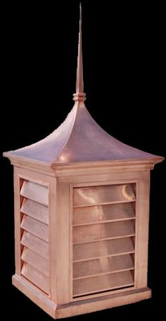 copper cupola custom design with copper roof finial cone pictured