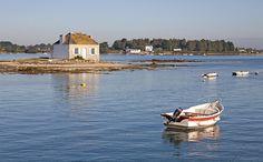 Saint Cado, riviere d'Etel, Morbihan. Brittany