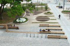 digitale paysage : Aménagement de la place d'Austerlitz
