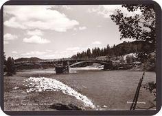 Hedmark fylke Folldal kommune Grimsbu. Bro over Folla.Utg  Rønning, Grimsbu 1940-tallet