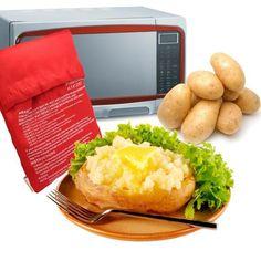 1 Pcs Red Washable Cooker Bag Baked Potato Microwave Cooking Potato Quick Fast Cooker Bag Potato (Cooks 4 Potatoes At Once) Baked Red Potatoes, Potatoes In Oven, Instant Potatoes, How To Cook Potatoes, Boil Potatoes, Roasted Potatoes, Baked Potato Microwave, Baked Potato Toppings, Microwave Baking