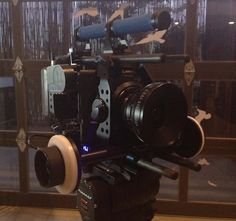 Vincent Laforet: Above you can see the microFollowFocus | blue Studio on our C300 rig (ultraCage C300 Studio Bundle)