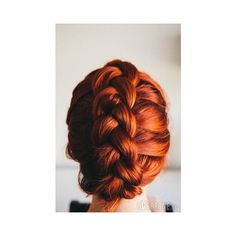 Dutch Braid Tuck Updo ❤ liked on Polyvore featuring accessories, hair accessories, hair, braids and hair pins