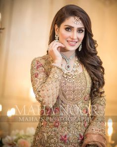 Bridal Mehndi Dresses, Walima Dress, Bridal Dress Design, Wedding Dresses For Girls, Shadi Dresses, Bridal Style, Pakistani Bridal Hairstyles, Pakistani Bridal Makeup, Bridal Lehenga