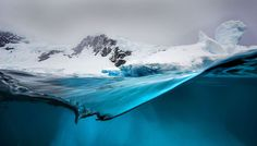Photographer Steve Mandel  Stunning Shots Simultaneously Capture the World Above and Below a Glacier - My Modern Met