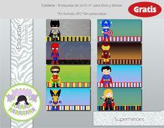 Gabys & Karys Designs: Etiquetas escolares de princesas y superhéroes GRATIS!