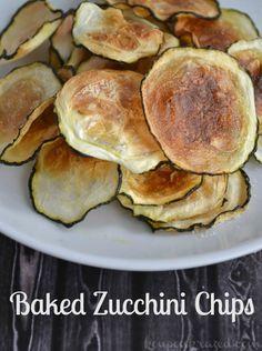 Baked Zucchini Chips Recipe #easyrecipe