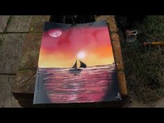 How to Spray Paint Art - Sunset Drift - YouTube