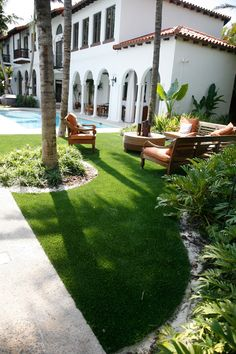 Spectacular Backyard Ideas With Artificial Grass, Among the very best and most affordable ways which you can decorate your backyard is to make small garden beds around the yard. Your backyard a part o. Artificial Grass Installation, Artificial Turf, Small Backyard Patio, Backyard Landscaping, Backyard Ideas, Backyard Designs, Pool Ideas, Patio Ideas, Synthetic Lawn