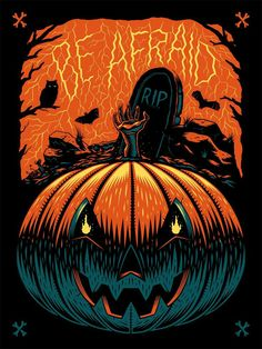 Petrifying Posters To get you in the mood for a horrifying Halloween take a look at Ian Jepson's creepy lettering and poster work. Based in Cape Town, South Africa, Ian's skilful illustrations. Retro Halloween, Halloween Poster, Halloween Prints, Halloween Horror, Halloween Pumpkins, Halloween Design, Halloween Costumes, Halloween Labels, Spirit Halloween