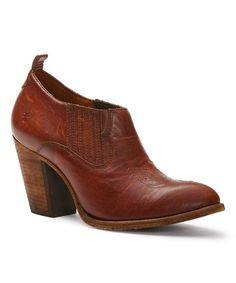 fd7e913d966 Frye Cognac Ilana Leather Bootie