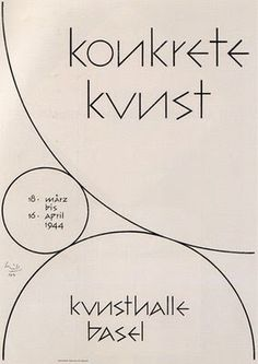 """konkrete kunst"" Kunsthalle Basel Exhibition Catalog, 1944, Designed by Max Bill repinned by Awake — http://designedbyawake.com"