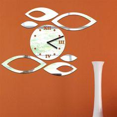 nastenné hodiny zrkadlové, zrcadlové hodiny, wall clock mirror, wanduhr spiegel, zegar ścienny lustro