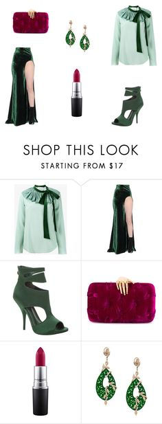 """""""Untitled #7524"""" by mie-miemie ❤ liked on Polyvore featuring Chloé, Haider Ackermann, Max Studio, Benedetta Bruzziches, MAC Cosmetics and Gemco"""