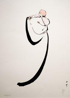 René Gruau ilustracion vestido novia espalda blanco dibujo