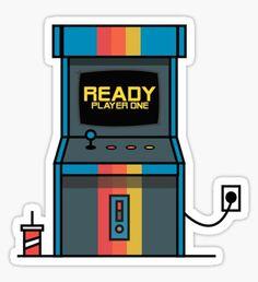 Pegatina Ready player one Arcade Machine