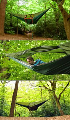Sleep like a monkey in the Tentsile -- a hammock/tent hybrid that will have you high up in the trees surrounded by nature. The UK maker of this tent touts the Tentsile as the world's most versatile tent for good reason - it gives you the ability to camp in some interesting locales.