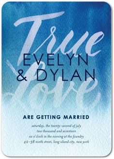 Vibrant Vows - Signature White Textured Wedding Invitations in Blue Moon | Petite Alma