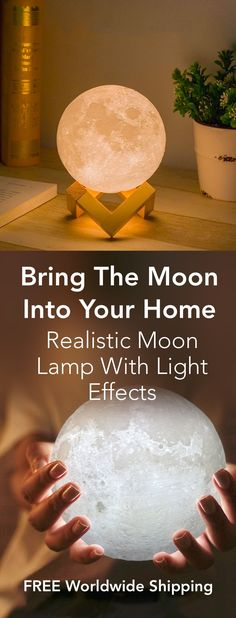 Bring The Moon Into Your Home - Realistic Magical Moon Lamps