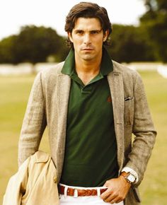"Ignacio ""Nacho"" Figueras in Ralph Lauren  i think polo is my new favorite sport :)"