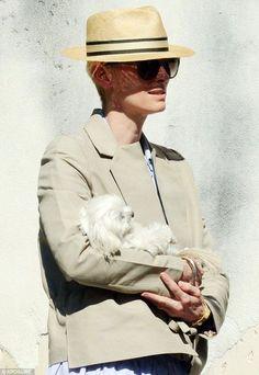Tilda Swinton out in Venice