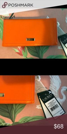 Lauren Ralph Lauren Lowell Slim Wallet in Kumquat NWT Lauren Ralph Lauren Bags Wallets