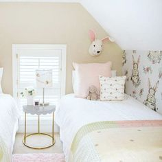 SPOTTED ON PROJECT JUNIOR: This is just 1/2 of some-bunny's adorable girls room!   Image by @snapshotsandmythoughts