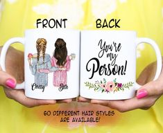 Best friend BFF Gift - You're my Person - Bestie Best Friend Christmas Mug - Christmas Gift - Birthd Birthday Mug, Birthday Gifts, Friends Forever, Best Friends, Bestie Gifts, Tea Mugs, Besties, Great Gifts, Personalized Gifts