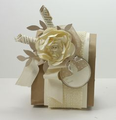 I used a red flower, with a silver bow. Really easy to do.