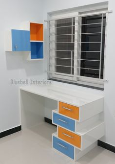 Open Shelving, Shelves, Study Table Designs, Washroom Design, Study Desk, Kids Furniture, Locker Storage, Drawers, Prince