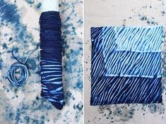 Oct 2019 - Today marks HonestlyWTF's four year anniversary. Four years! To celebrate, we're revisiting the very first tutorial we ever featured on the site: shibori tie dye. Lauren and I first discovered shibori after discovering an old… Techniques Shibori, Techniques Textiles, Tie Dye Folding Techniques, Art Journal Techniques, Natural Dye Fabric, Natural Dyeing, Tie Dye Crafts, Shibori Tie Dye, Hair Images