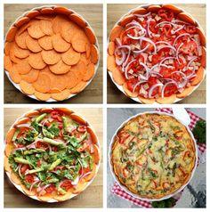 Middagspai med enkel søtpotetbunn - LINDASTUHAUG Ratatouille, Chana Masala, Nom Nom, Food And Drink, Favorite Recipes, Pizza, Baking, Fruit, Ethnic Recipes