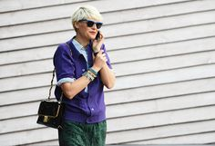 2012: Elisa Nalin 2012 was the year of the bright and the bold on the streets, and no one did it better than peroxide blonde Elisa Nalin. Her multihued looks inspired legions of retailers (most notably, J.Crew) to embrace the color-block trend.