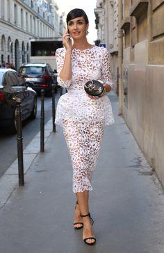 Sexy sheer lace #PazVega in Paris.