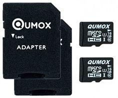 2pcs Pack QUMOX 16GB MICRO SD MEMORY CARD CLASS 10 UHS-I 16 GB SPEICHERKARTE HighSpeed Write Speed 12MB/S read speed upto 70MB/S - http://kameras-kaufen.de/qumox/16-gb-x2-qumox-32gb-micro-sd-memory-card-class-10-uhs
