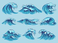 Find Hand Drawn Ocean Waves Sketch Sea stock images in HD and millions of other royalty-free stock photos, illustrations and vectors in the Shutterstock collection. Ocean Wave Drawing, Water Drawing, Wave Art, Waves Sketch, Wave Illustration, Sea Waves, Drawing Sketches, Tattoo Sketches, Tattoo Drawings
