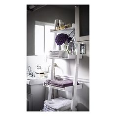 finally after many months of searching for the perfect towel rack for my bathroom i found this shelf at jysk doesnt it look perfect in my bathroom
