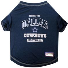 Dallas COWBOYS NFL dog T-Shirt in color Blue