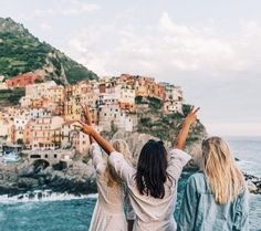 Pretty sure I've been to that town or one that looks just like it… I think it's in Italy in Cinque Terre