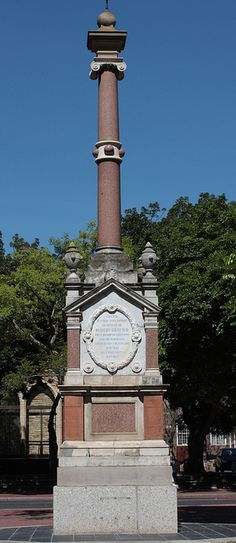 This monument, to be found in central Cape Town, South Africa, was errected by public subscripton in memory of Robert Gray, first Bishop of Cape Town and Metropolitan.