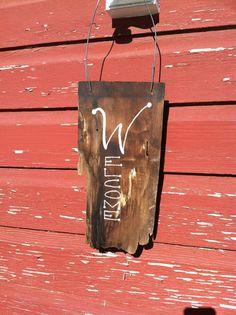 Wooden Cedar Shingle Welcome Sign by ElegantRusticHome on Etsy, $10.00