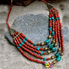 Be Stylish.Be fashionable. Be Unique. by wearing our Tashi Necklace for only $28.00 shop us online at http://www.luvgypsy.com/collections/necklaces/products/tashi #Summer #Tashi #India #Treasures #TreasureHunt #Tibet #Tibetan #Turquoise #TibetanCoral #Necklace #StatementJewelry #Jewelry #IndianJewelry #IndianTreasures #Gold #Red #Beads #Hippie #Luvgypsy #Boho #Gypsy #Tribal #Summer #Hippie #VibrantColors #BohoChic #Bohemian #Pyramid #BohemianJewelry #GypsyNecklace