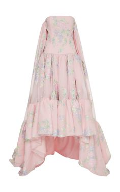 Sleeveless Floral-Print Gown by Prabal Gurung Floral Print Gowns, Printed Gowns, Couture Fashion, Girl Fashion, Fashion Outfits, Ashley Clothes, Fancy Gowns, Cinderella Dresses, Prom Looks