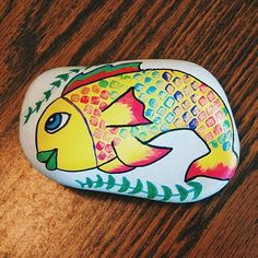I loved this fish painting so much, I kept it for myself. Haha . . . #fish…