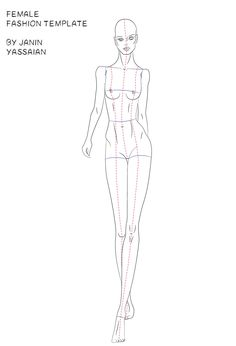 Items similar to Walking Fashion Template-Front View on Etsy Fashion Model Sketch, Fashion Design Sketchbook, Fashion Design Drawings, Fashion Sketches, Dress Sketches, Fashion Illustration Poses, Fashion Illustration Template, Fashion Figure Templates, Fashion Design Template