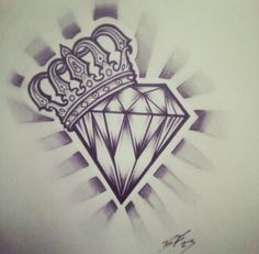 Diamond crown tattoo.